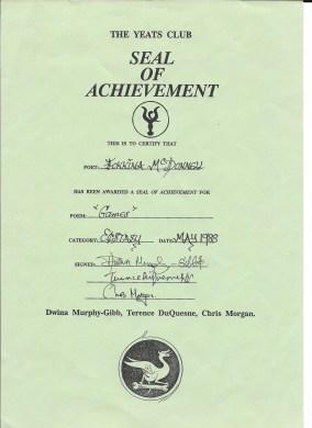 Games Certificate
